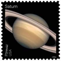 USA 2016 Views of our Planets Saturn Forever stamp