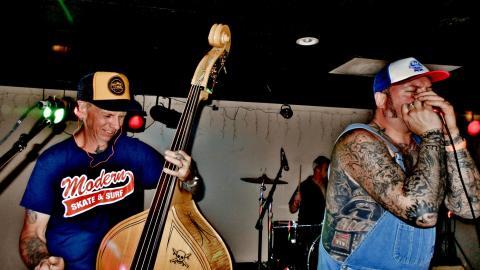 Uncle Piddles-Bass, Brain Hucklebuck-Drums, & Ted Bundy-vox & mouth harp, Legenday Hucklebucks