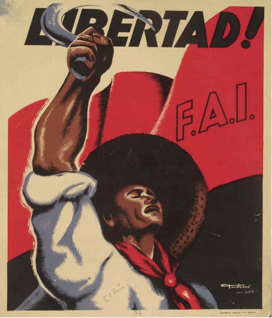 FAI propaganda plakát.  © libcom.org