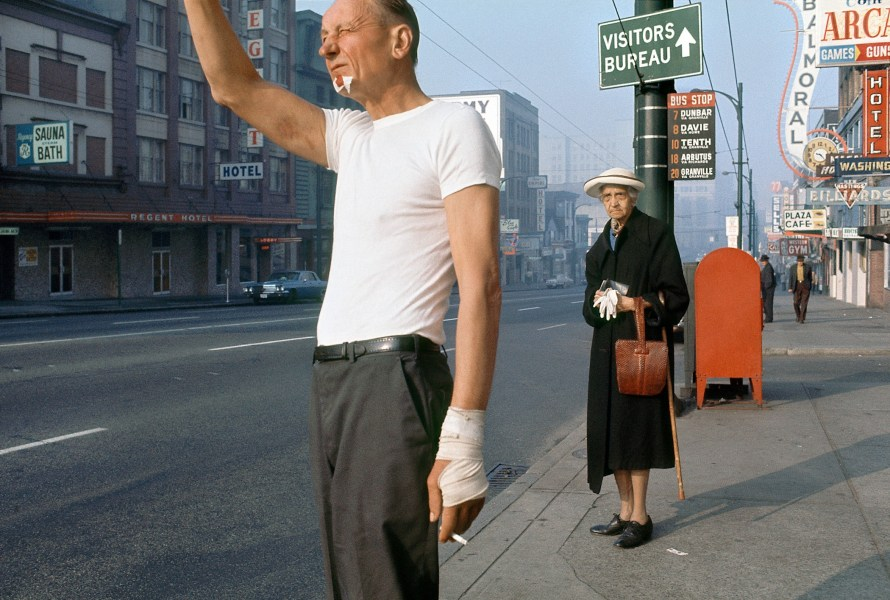 Fred Herzog: Man with Bandage, 1968. © Equinox Gallery