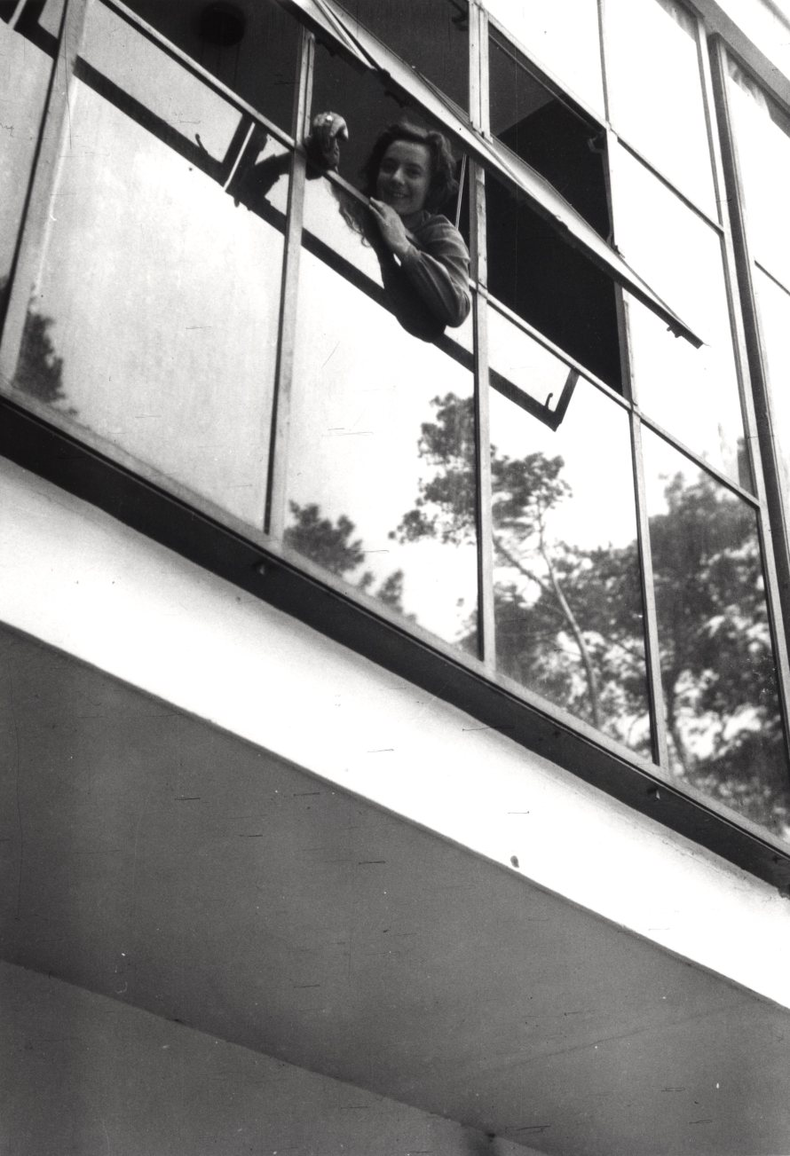 László Moholy-Nagy: Greta Palucca in the Bauhaus building at Dessau, 1925–28/1995
