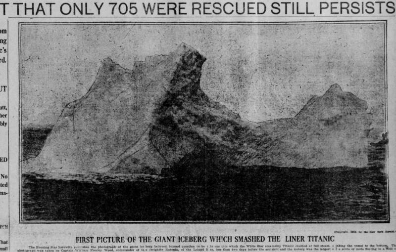 A jéghegy, mellyel a Titanic ütközött 1912-ben.
