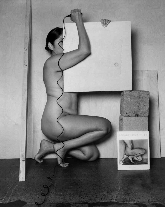 Fotó: <b>Tarrah Krajnak</b>: Self-Portrait as Weston/as Bertha Wardell, 1927/2020, from the Master Rituals II- Weston's Nudes series, 2020. Courtesy of the artist.