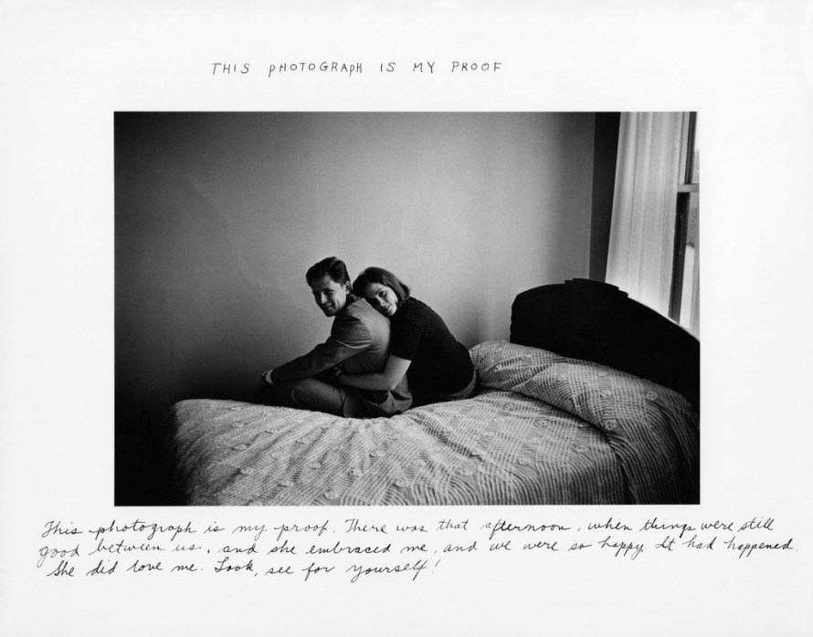 Fotó: <b>Duane Michals</b>: This Photograph Is My Proof, 1974 <br> © Duane Michals. Courtesy of DC Moore Gallery, New York