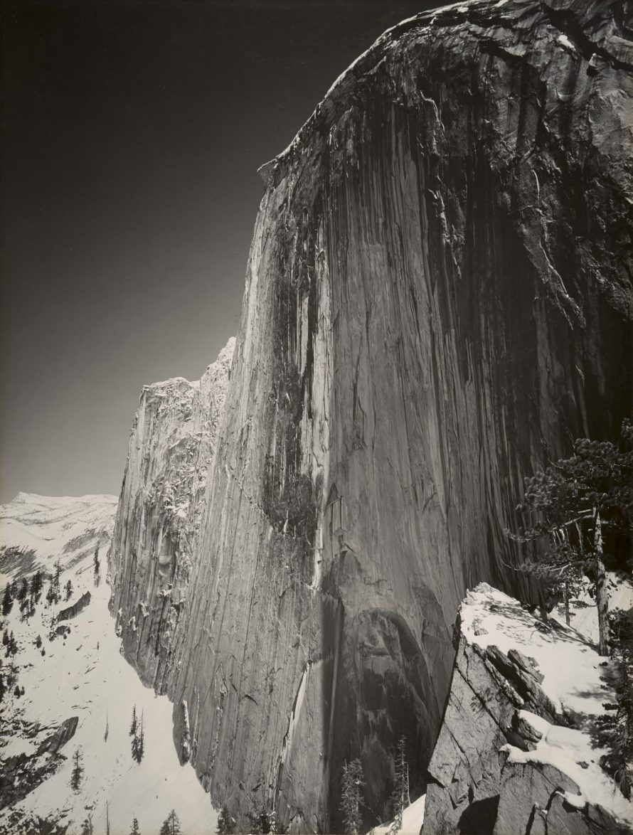 Fotó: Ansel Adams (1902–1984)<br> Monolith, Face of Half Dome, 6. 1927<br> gelatin silver print, Amon Carter Museum of American Art, Fort Worth, Texas, Bequest of Finis Welch, © The Ansel Adams Publishing Rights Trust