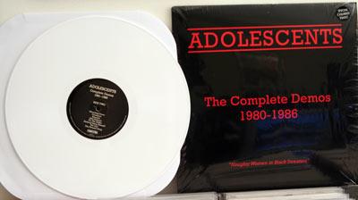 Adolescents Demo LP on white