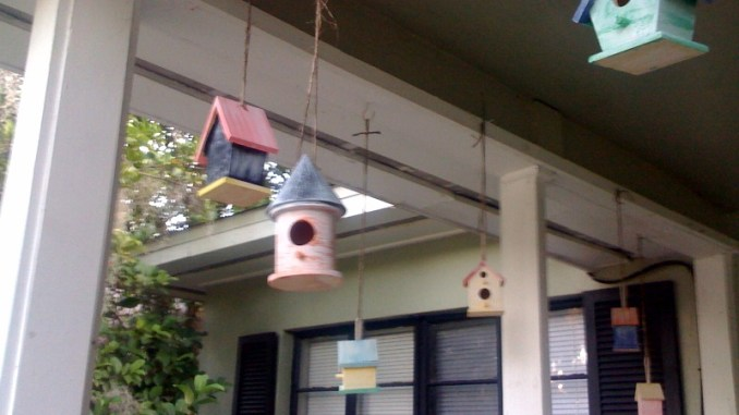 painted birdhouses spring craft