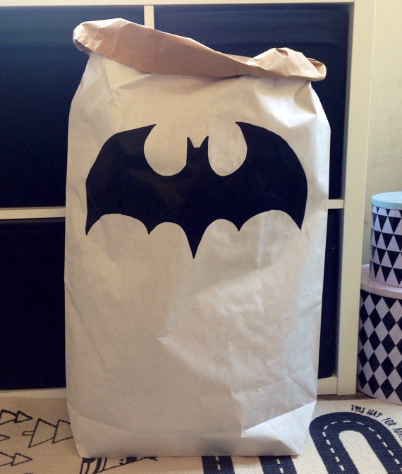 Fun storage bag for toys with bats on them!