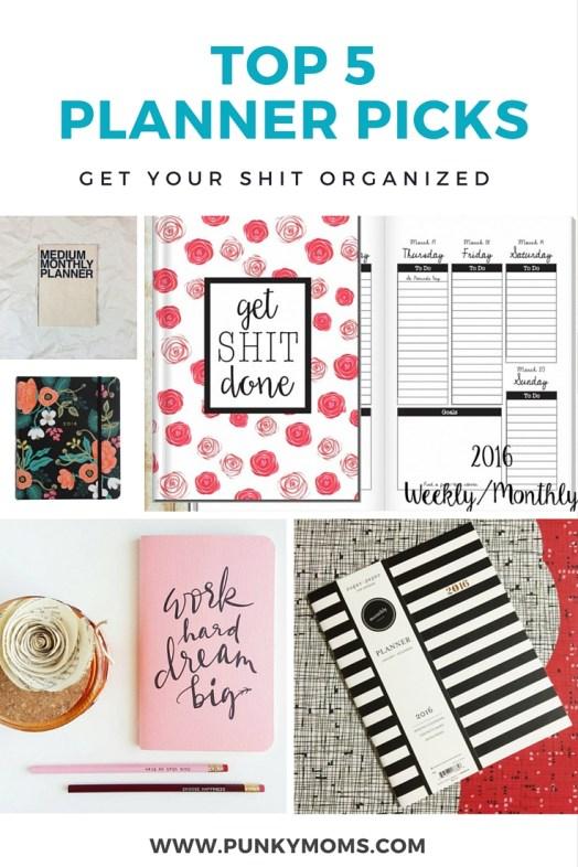 top 5 planner picks to get organized