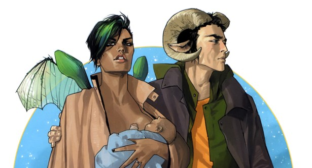 SAGA. A Comic Book That Will Make You Forget You Are Reading A Comic Book! War, Childhood, Love, Sex, Mothers-in-Law, and a Lying Cat.