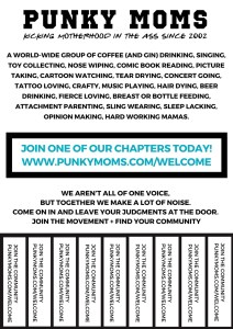 Grassroots Punky Flyer - put up in a local coffee shop