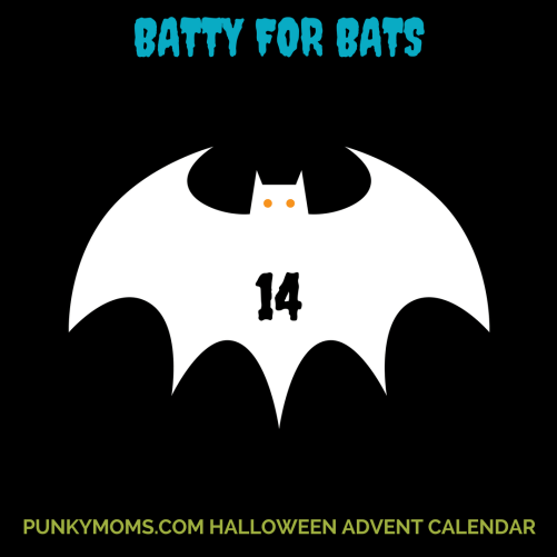 """'Female bats are pretty much the original Punky Moms gang as they set up """"maternity colonies"""" – essentially comfy places chosen by pregnant bats, where they hang out, birth and breastfeed their babies, while providing each other with warmth and company: living the Punky Mom commune dream!' Come read Jane's piece (and today's Halloween Advent Calendar door) The Importance of Bats Conservation - We Are Batty For Bats"""