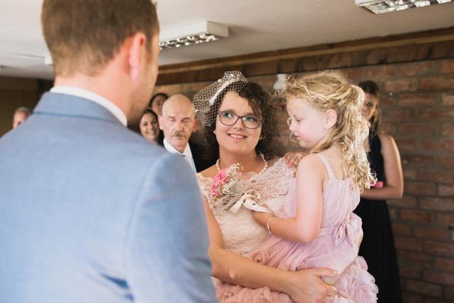 Punky Alternative Wedding in the bride's Irregular Choice heels