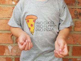 More pizza, less patriarchy! Designed by fellow Punky Moms member Heather Brown, our newest addition to the Punky shop is sure to help you crush misogyny. Available in kid & adult sizes up to 4xl. Everyone needs to carb-load before we break through these constrictive gender stereotypes.