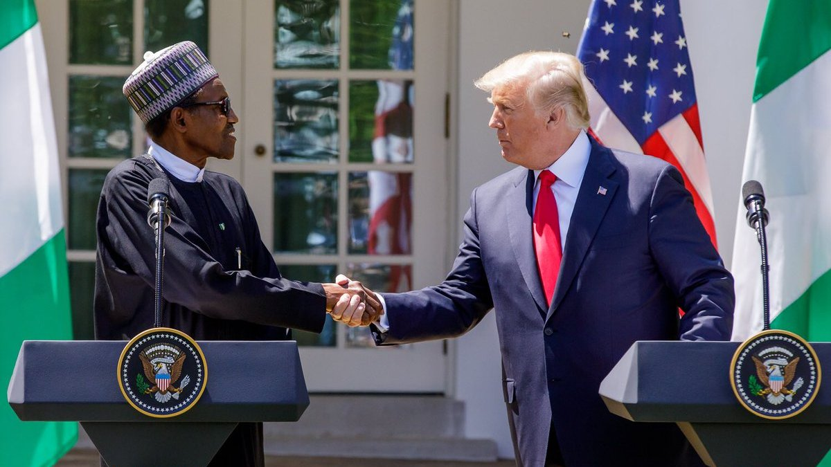 Trump invites Buhari to White House 'to show Americans he isn't that bad'