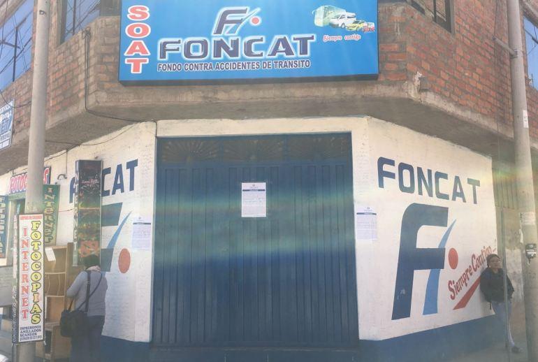 SBS canceló en forma definitiva FONCAT en Puno