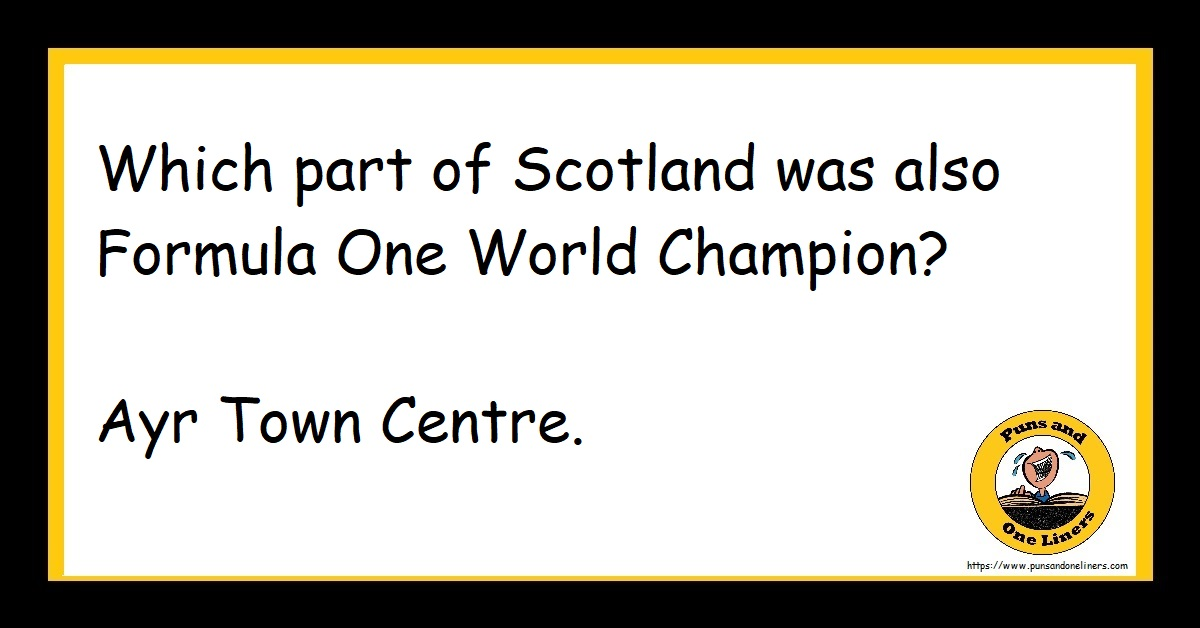 Which part of Scotland was also Formula One World Champion? Ayr Town Centre.