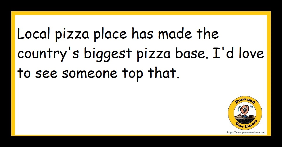 Local pizza place has made the country's biggest pizza base. I'd love to see someone top that.