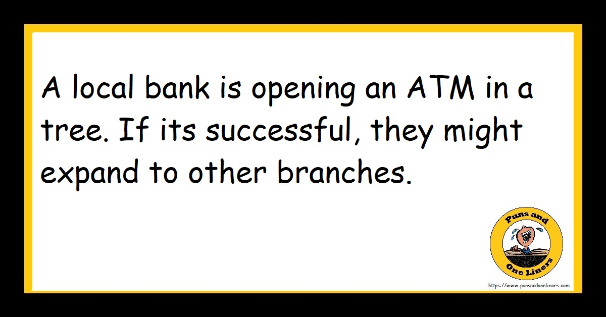 A local bank is opening an ATM in a tree. If its successful, they might expand to other branches.