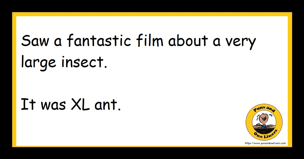 Saw a fantastic film about a very large insect. It was XL ant.