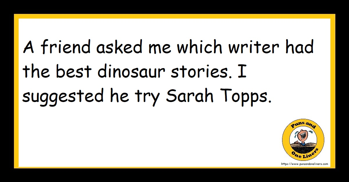 A friend asked me which writer had the best dinosaur stories. I suggested he try Sarah Topps.
