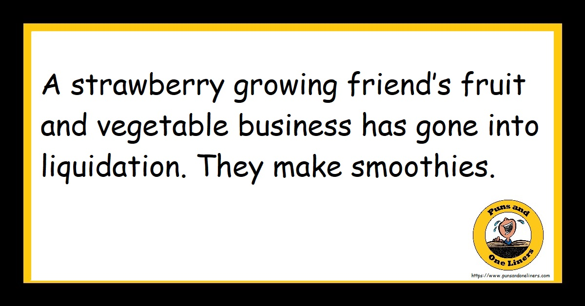 A strawberry growing friend's fruit and vegetable business has gone into liquidation. They make smoothies.
