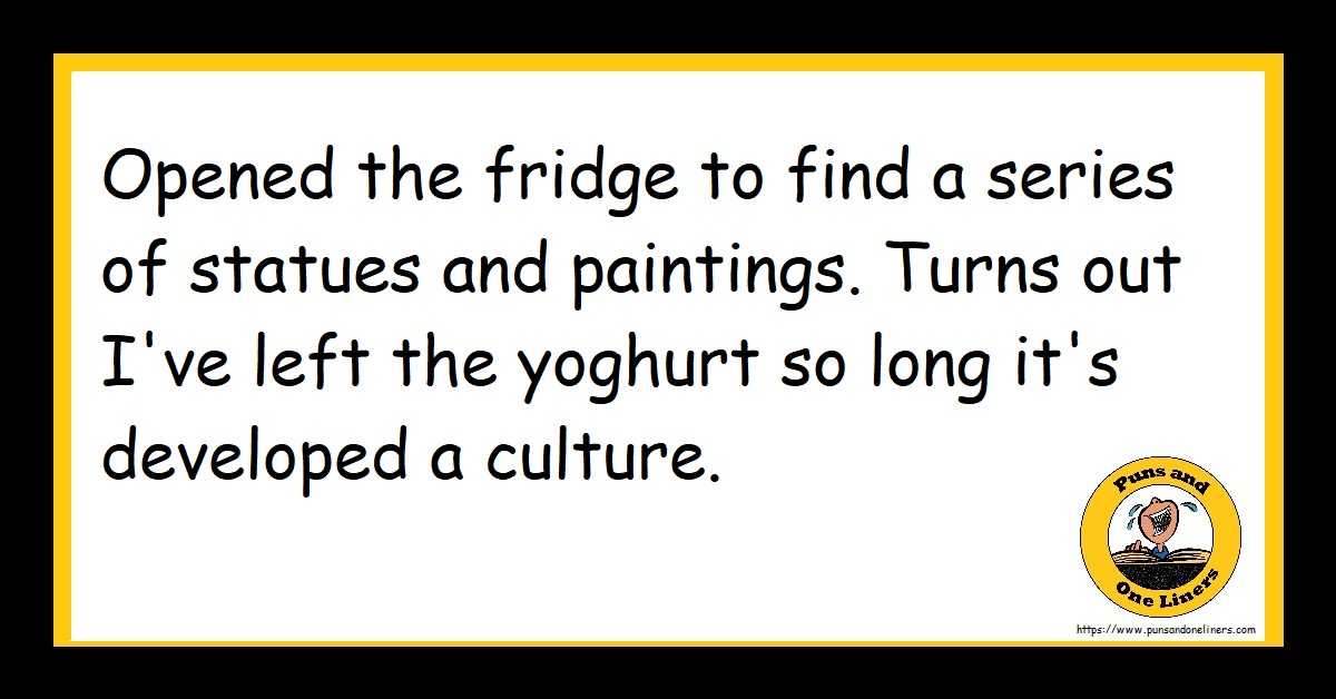 Opened the fridge to find a series of statues and paintings. Turns out I've left the yoghurt so long it's developed a culture.