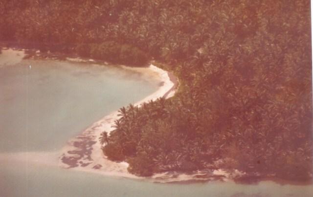 Vista desde el aire de Playa Bávaro tal como la descubrió Don Gabriel Barceló