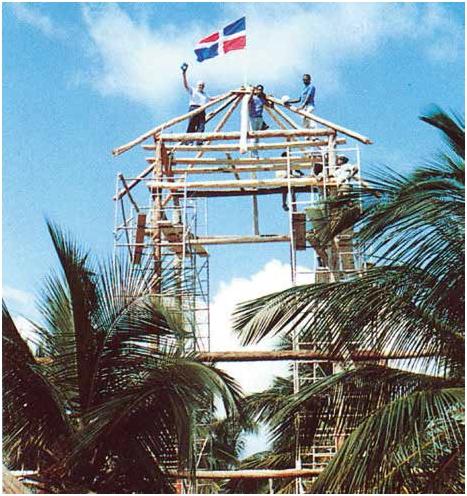 Primeros trabajos en el Barceló Beach, primer hotel levantado de Playa Bávaro