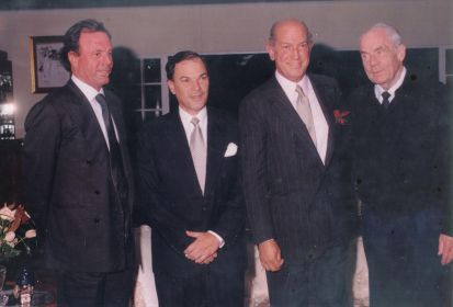 Julio Iglesias, Frank Rainieri, Oscar de la Renta y Thed Kheel socios fundadores del Grupo Puntacana