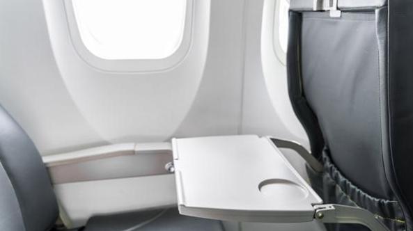 En el primer puesto se ubican las bandejas en las que los pasajeros comen durante el vuelo (iStock)