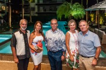 Oscar Sanoja, Bruni Campagna, Dino Campagna, Maria Luisa de Hermanas y Javier Hermanas