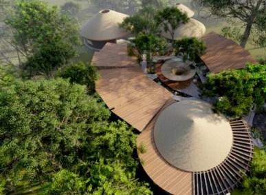 Sus áreas sociales serán un lobby de 325 m2, plaza de lobby de 180 m2, spa con plaza ecológica de descanso y gimnasio de 595 m2