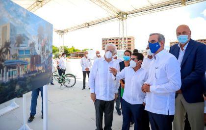 Presidente Abinader recibe explicacion de Hotel Margaritaville
