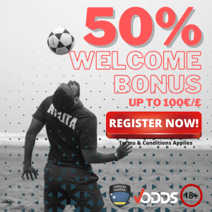Vodds — 50% To €100