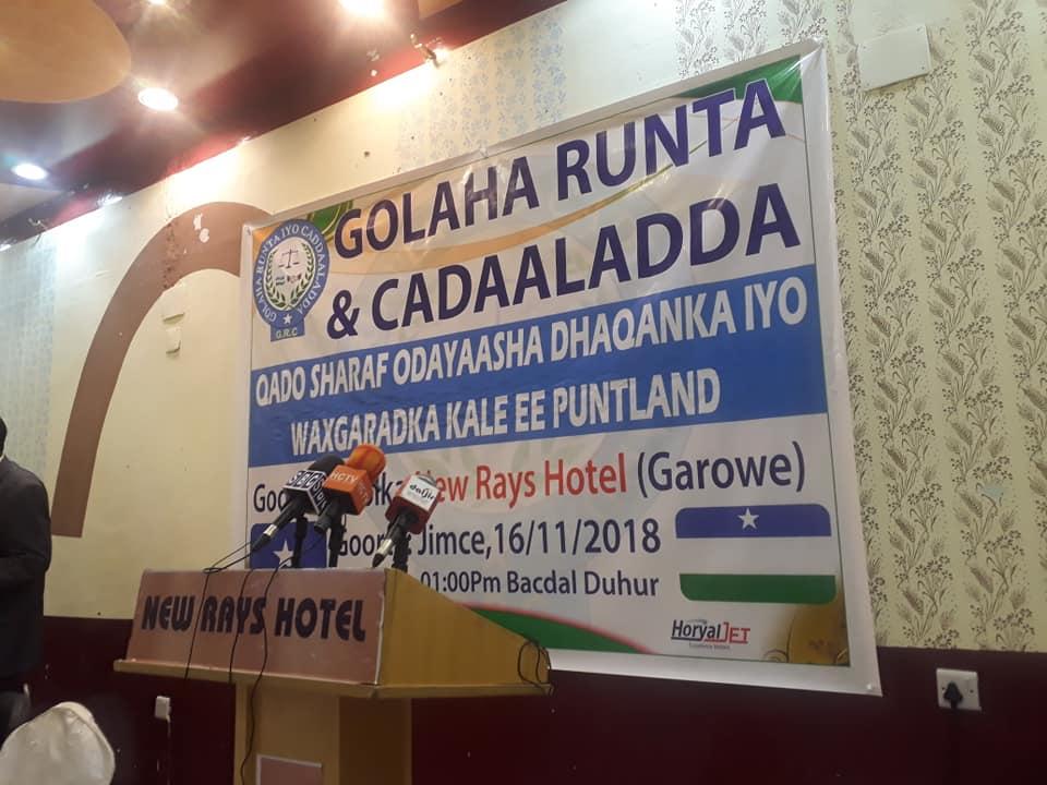 Puntland: Ciidamada amniga oo joojiyay shir ka socday Garowe