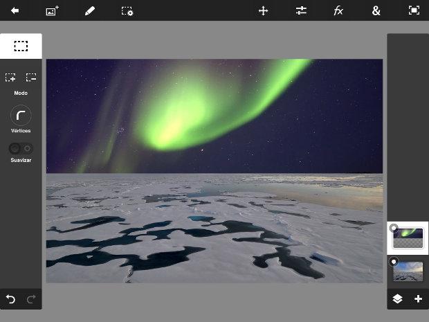 utilizando imagen google boreal en photoshop touch