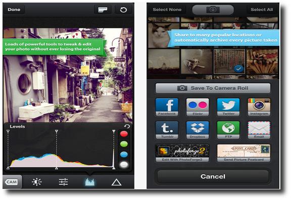 Herramientas aplicación   KitCam para iPhone, iPad o iPod Touch