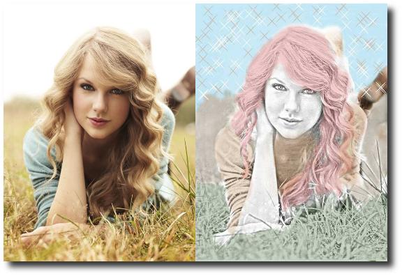 tutorial personalizar fotos en Android con Photo Art - Color Effects (antes y después)