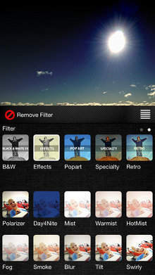 Filtros de la app Filters para el iPhone