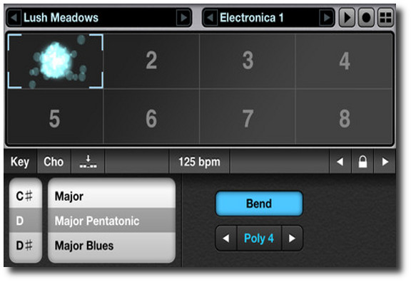 Interfaz de usuario Alchemy Synth Mobile