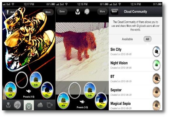 Interfaz de usuario Digiback