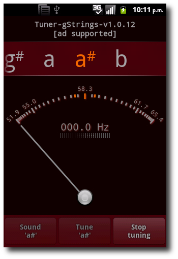 Tuner gStrings Android