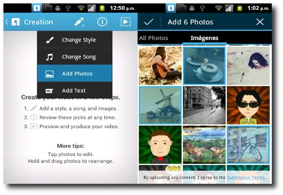 Opción Add Photos