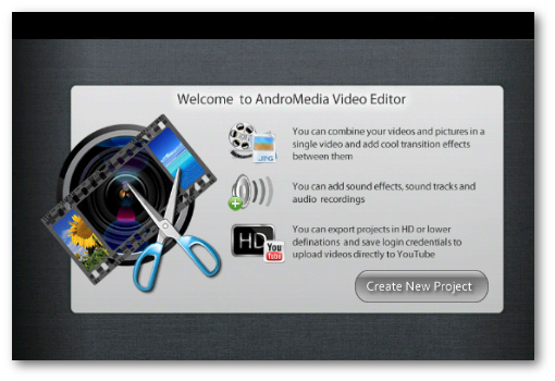 Andromedia Video Editor para android