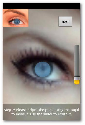 nuevo color de la pupila en Eye Color Studio