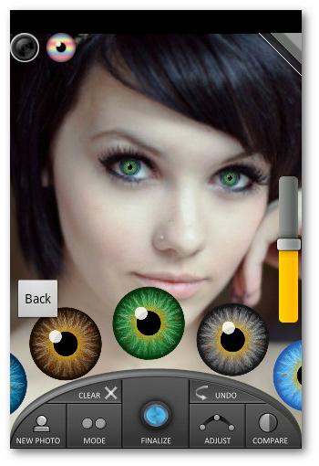 seleccionar tipo de Color en Eye Studio