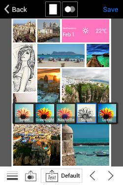aprende a crear un collage en Android