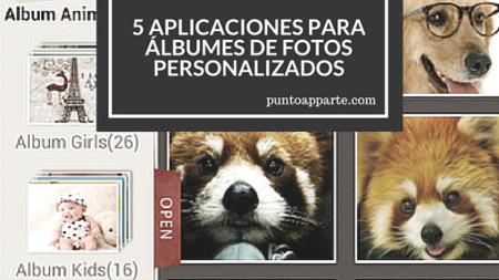 portada aplicaciones para álbumes de fotos personalizados