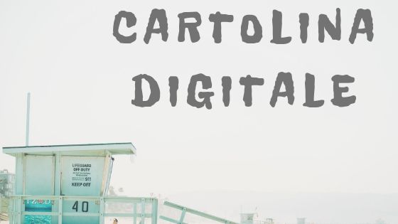 scritta cartolina digitale